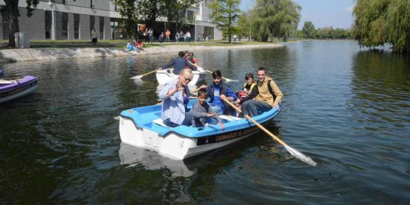 2017-05-01 csónakázás a fehérvári Csónakázótón